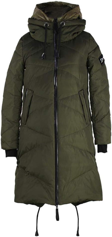 Zenicham Maternity Coat Winter Thicken Warm Hoodie Down Jacket Fashion Zipper Long Jacket Outwear
