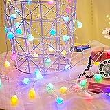 COOLBOTANG LEDイルミネーションライト 4.5m 40球 ストリングライト フェアリーライト 可愛くて小さなボール 電池式 飾り 8種点灯モード ワイヤーライト 防水 パーティー電飾 電球 ガーランド デコレーションライト 結婚式・庭・パーティー・クリスマス 装飾 (カラフル8モデル)