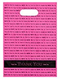 9x12 Hot Pink'Thank You' Die Cut Handle Plastic Bags 50/cs- Bags Direct Brand