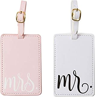 Luggage Tags,Mr Mrs honeymoon Luggage Tags Wedding Bridal Shower Gift Cute Luggage Tag Travel Tags Sweet Couples Gift - 2 Pack