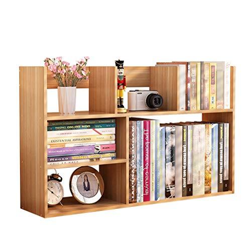 Bibliothèques Petite bibliothèque rack simple étagère de bureau rack de stockage de bureau bibliothèque de bureau (Color : Wood color, Size : 80x18x48cm)