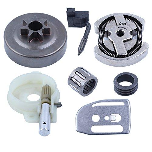 Haishine . 325–7T Kupplungs-Trommellager-Ölpumpe, Schneckengetriebe-Set für Husqvarna 137 136 141 142 36 41 Kettensäge #530014949,530069342