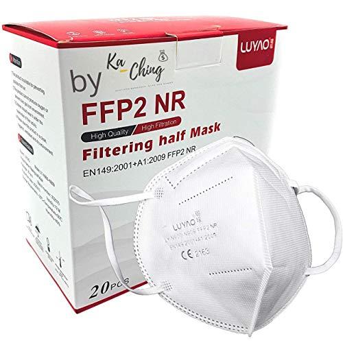 20x Ka Ching $ FFP2 Maske CE Zertifiziert medizinisch Atemschutzmaske Atemmaske Mundschutzmaske einzelverpackt Schutzmaske Partikelfiltermaske Mund und Nasenschutz Staubmaske von offizieller Stelle