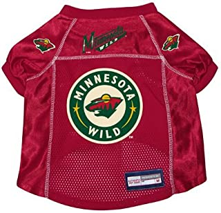 Minnesota Wild Dog Pet Premium Hockey Jersey w/ Name Tag MEDIUM