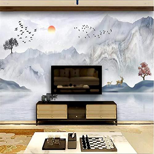 Papel pintado fotográfico Mural Mármol Patrón Nueva Concepción Artística China Paisaje TV Fondo-260254cm