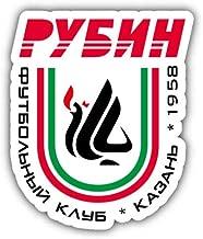 Rubin Kazan FC Russia Soccer Football Vinyl Decal Sticker Car Decal Bumper Sticker for Use on Laptops Windows Bottles Laptops Windows Scrapbook Luggage Lockers Cars Trucks