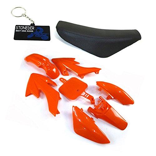 STONEDER Carenado de plástico naranja alto asiento de espuma para CRF50 XR50 Pit Dirt Bike y sus copias chinas 50 90125 160cc SSR Piranha DHZ GPX