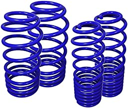 Fit 2010-2015 Chevy Camaro (3.6L V6 Engine Only) Suspension Lowering Springs Blue (Front 1 Inch/Rear 1.3 Inch Drop)