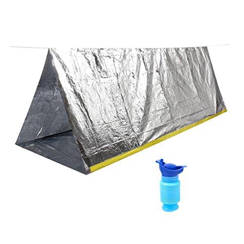 MagiDeal Tente D'urgence Abri De Jardin Pour Camping Avec Urinoir Portable Réservoire