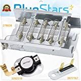 279838 Dryer Heating Element 3977767 3392519 Thermal fuse COMPLETE Dryer Repair Kit Replacement by Blue Stars - Exact Fit For Whirlpool Kenmore Maytag Admiral Dryers - Replaces 3403585 8565582 3398064