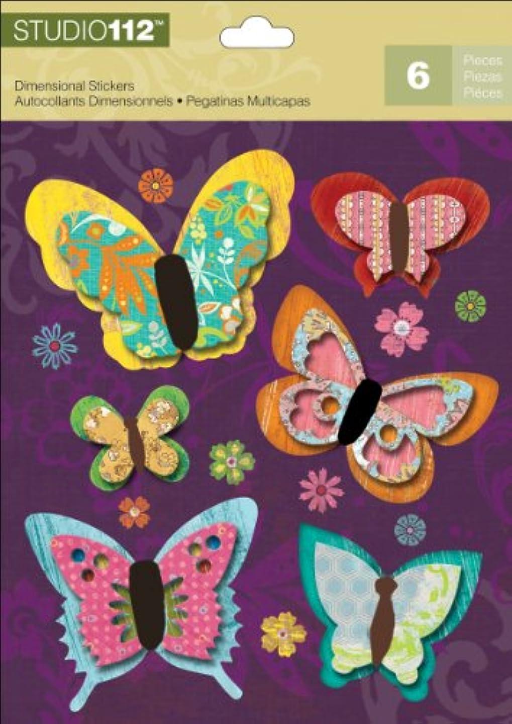 K&Company Studio 112 Butterfly Dimensional Stickers nkk493651913