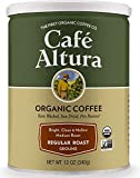 Cafe Altura Ground Organic Coffee, Regular Roast, 12 Ounce (Pack of 3), Blue
