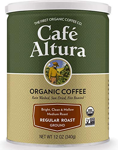 Cafe Altura Ground Organic Coffee, Blue - Regular Roast