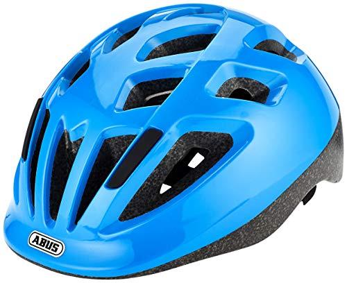 ABUS Smooty 2.0 Kinderhelm - Robuster Fahrradhelm für Kleinkinder im Beifahrersitz - für Mädchen und Jungen - 81862 - Blau Glänzend, Größe M