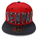 Senpai HAT in RED with Black Brim