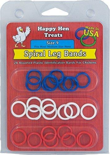Happy Hen Treats Spiral Leg Bands for Pets, Size 9 by Happy Hen Treats