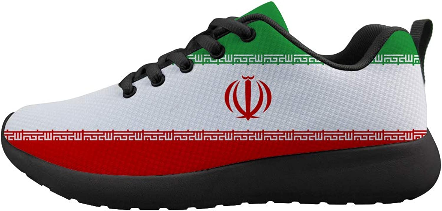 Owaheson Cushioning Sneaker Trail Running shoes Mens Womens Iran Flag