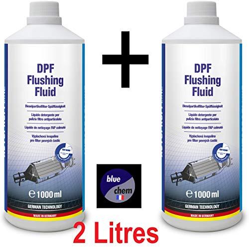 Bluechem France (2 bidons) 2 litri detergente e dealaminante per FAP e catalizzatore colmatati, certificato TÜV