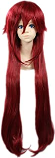 COSPLAZA Cosplay Wigs Heat Resistant Synthetic Wig Boy Male Girl Long Red Anime Hair