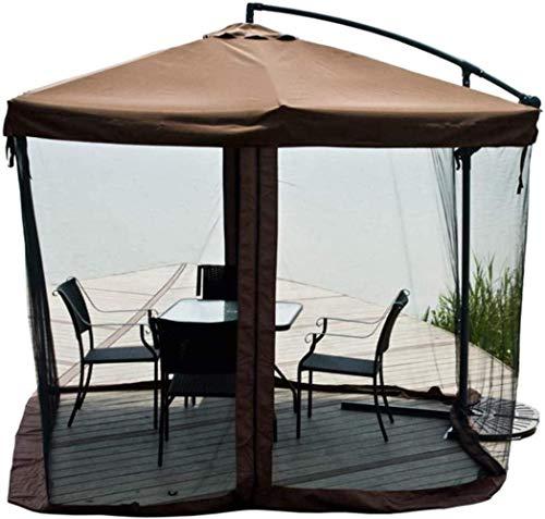 WENYAO Parasoles de jardín Sombrilla para mosquiteros al Aire Libre Sombrilla para mosquiteros Invasión antimosquitos Adecuado para mosquiteros para sombrillas de Patio al Aire Libre (Color: Marrón