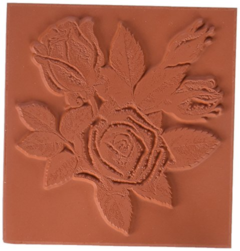 Deep Red Stamps Tampon étirable en 3 x 7,6 cm Motif Fleurs de Rose, Rouge Profond