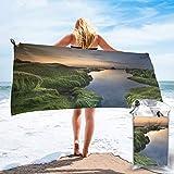 Toalla de playa de microfibra Green Coast de secado rápido y ligero toalla de viaje