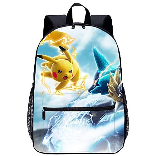 PAWANG Sac à dos scolaire Pokémon Pikachu Cartable de...
