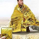 ppol Manta solar de emergencia al aire libre de seguridad aislante Mylar calor...