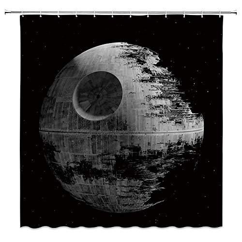 AMNYSF Star Wars Creative Animals Schmetterlinge Blumen Decor Duschvorhang, 177,8 x 177,8 cm Wasserdichter Polyester-Stoff Badezimmer-Accessoires Vorhänge mit Haken Modern 70x70 Inches Multi 013