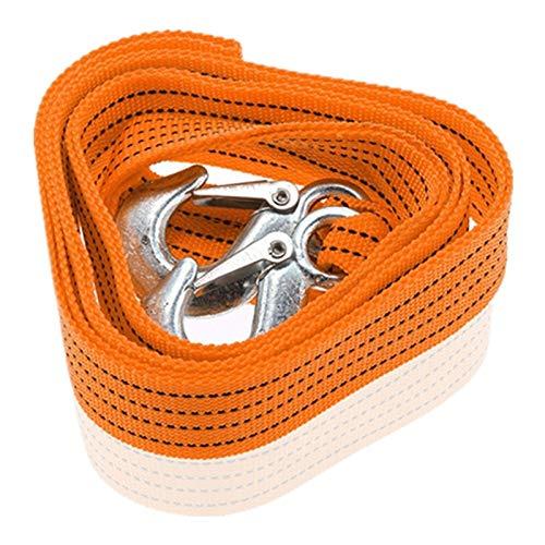 XPOXx 4M 3 Tonnes Abschlepp Notfall Stahl Rettung Abschleppseil for Auto-LKW Camping Ziehen Seil mit Schmiedeeisen Haken