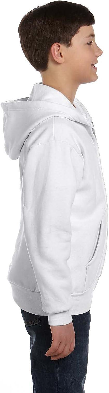 Full Zip Hoodie Sweatshirt (P480) White, L