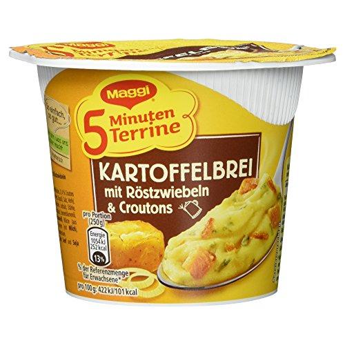 Maggi 5-Minuten Terrine Kartoffelbrei mit Röstzwiebeln und Croutons, 56 g