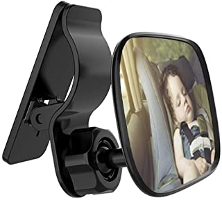 Automotive Interior Rearview Baby Mirror - Car Small Clip-On Adjustable Facing Back Rear View Seat Convex Mirror Clip on C...