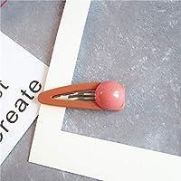 HuaQingPiJu-JP 1Pc DIYマジックヘア女性の女の子ヘアピンヘアマットテクスチャクリップパーティーヘアスタイルツールアクセサリー(オレンジ)
