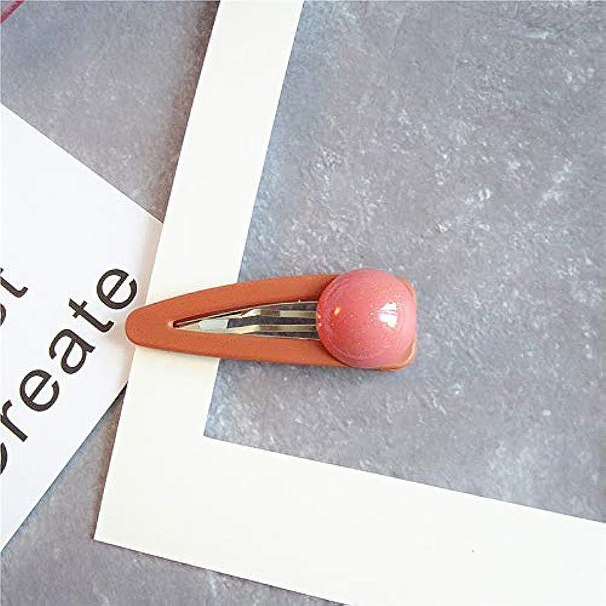 引用混合した手錠HuaQingPiJu-JP 1Pc DIYマジックヘア女性の女の子ヘアピンヘアマットテクスチャクリップパーティーヘアスタイルツールアクセサリー(オレンジ)