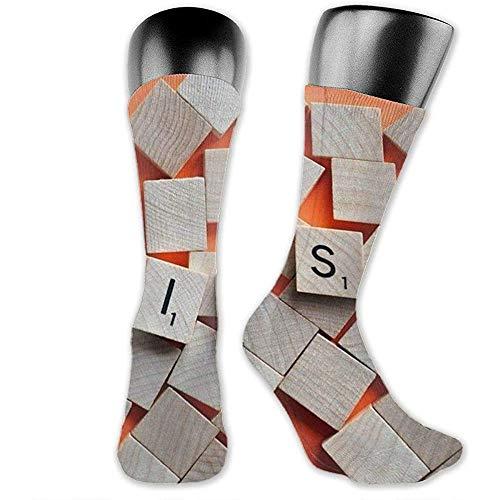 heefan Calcetines largos de algodón de colores frescos para...