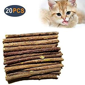 AIDIYA Catnip De Hierba Gatera De Matatabi para Gatos Natural Cuidado Dental Chew Catnip Sticks para Dientes Diámetro de Limpieza (M) 7