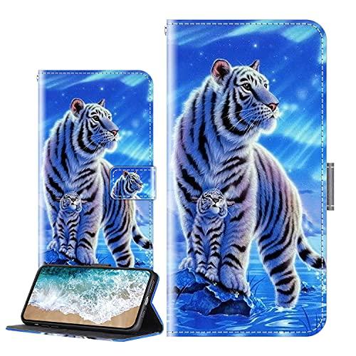 Cherfucome Handytasche für Sony Xperia XZ3 Hülle Leder Tasche Brieftasche Flip Hülle Cover Sony Xperia XZ3 Handyhülle Ledertasche Lederhülle Schutzhülle [C04*Tiger]