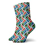 yting Calcetines casuales de la bandera de Sudáfrica Tejidos de tobillo de tejido corto Calcetines de compresión para mujeres Hombres