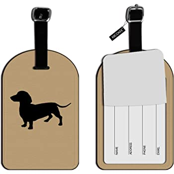 2 Pack Luggage Tags Dachshund Wiener Dog Travel Tags For Suitcase Bag Accessories