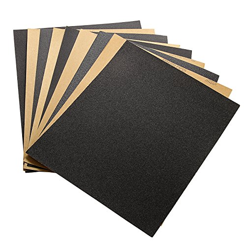 36-Sheet 60 To 2000 Assorted Grit Sandpaper for Wood Furniture Finishing, Metal Sanding and Automotive Polishing, Wet or Dry Sanding, 9 x 11 Inch