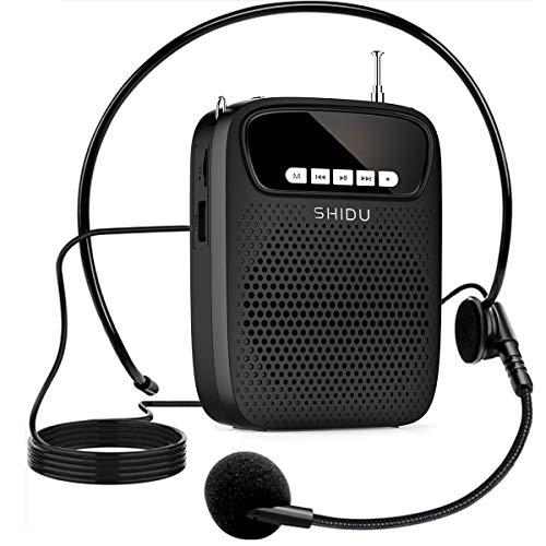 Amplificador de Voz Portatil 15 Vatios Altavoz con Microfono, Profesional Megafono Sistema...