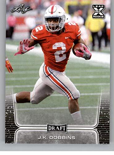 2020 Leaf Draft #8 J.K. Dobbins RC - Ohio State Buckeyes (RC - Rookie Card) NM-MT NFL Football Card