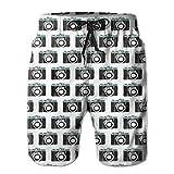 Desconocido Old Camera Surfing Pocket Cintura elástica Pantalones de Playa para Hombre Shorts Shorts de Playa Swim Trunks XXL