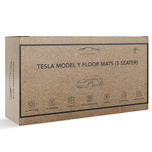 Elon Accessories Tesla Model Y Floor Mats: 3D Fit, All Weather, Celtic Maze Design, Laser Fit, Eco-Friendly & Easy to Clean