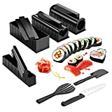 Sushi Maker Kit, AGPtek 11pcs DIY Sushi Making Kit Roll Sushi Maker Rice Roll Mold Including Sashimi Knife for Kitchen DIY Easy To Use