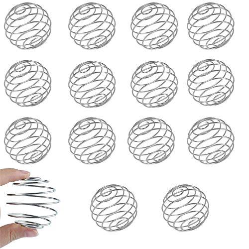 15PCS Coctelera Proteínas, Bolas Mezcladoras, Acero Inoxidable Shaker Bola Batidor Mezclador Blender Bola De Mezcla