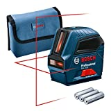 Bosch Professional Measurement 0601063L00 Nivel GLL 2-10, láser Rojo, Interior, Alcance...