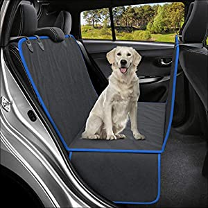Active Pets Dog Back Seat Cover Protector Waterproof Scratchproof Hammock for Dogs Backseat Protection Against Dirt and Pet Fur Durable Pets Seat Covers for Cars & SUVs (XL, Blue)