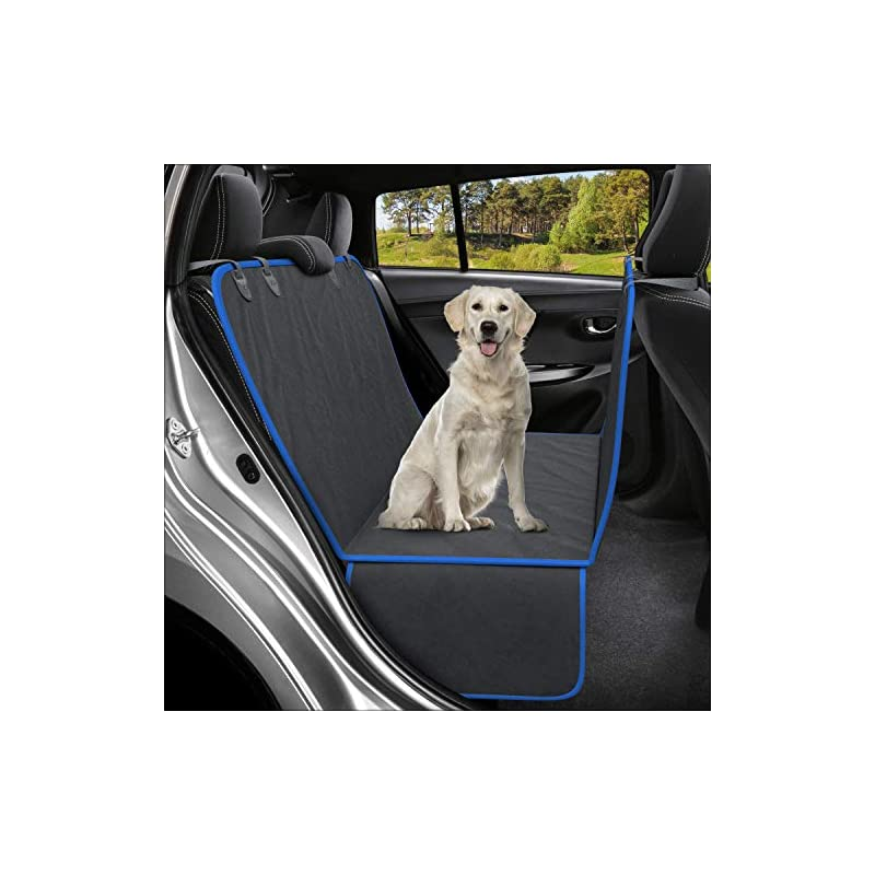 dog supplies online active pets dog back seat cover protector waterproof scratchproof hammock for dogs backseat protection against dirt and pet fur durable pets seat covers for cars & suvs (xl, blue)